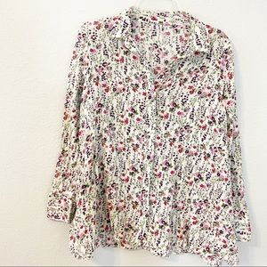 Free People Floral Button Down Tunic